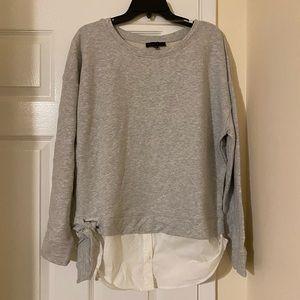 Sanctuary nwot gray sweatshirt side tie XL